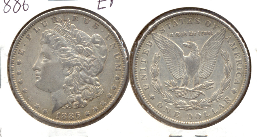 1886 Morgan Silver Dollar EF-40 d