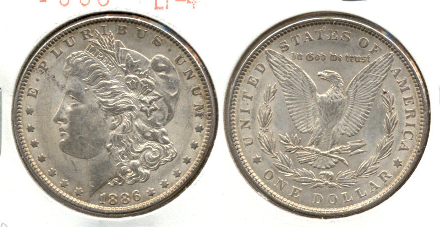 1886 Morgan Silver Dollar EF-40 f