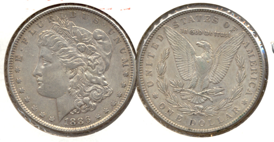 1886 Morgan Silver Dollar EF-40 h