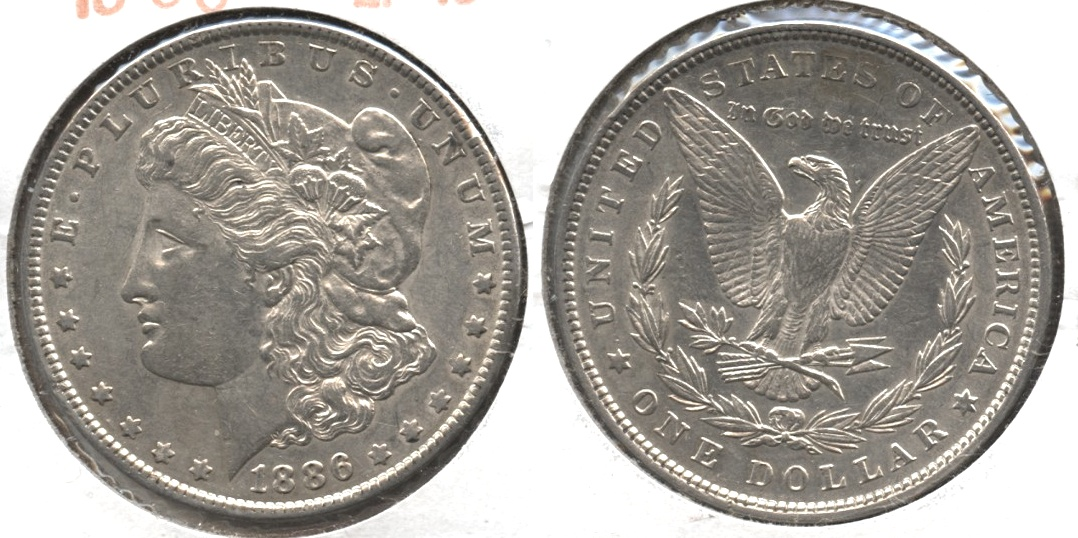 1886 Morgan Silver Dollar EF-40 #w