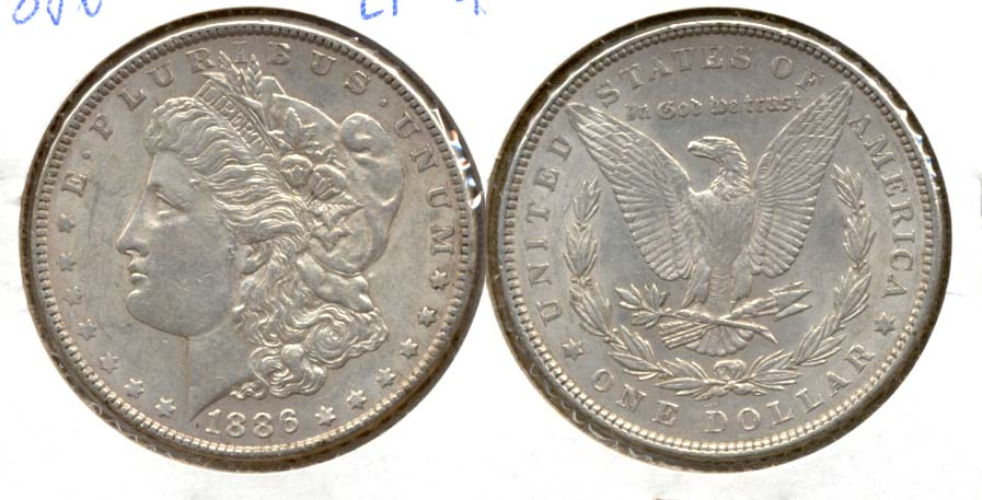 1886 Morgan Silver Dollar EF-45 c