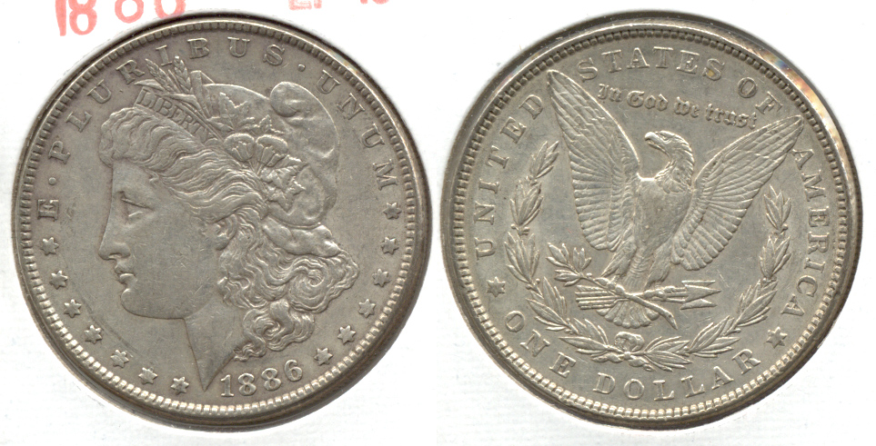 1886 Morgan Silver Dollar EF-45 k
