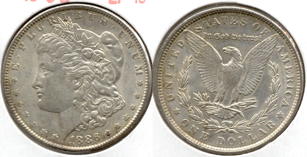 1886 Morgan Silver Dollar EF-45 q