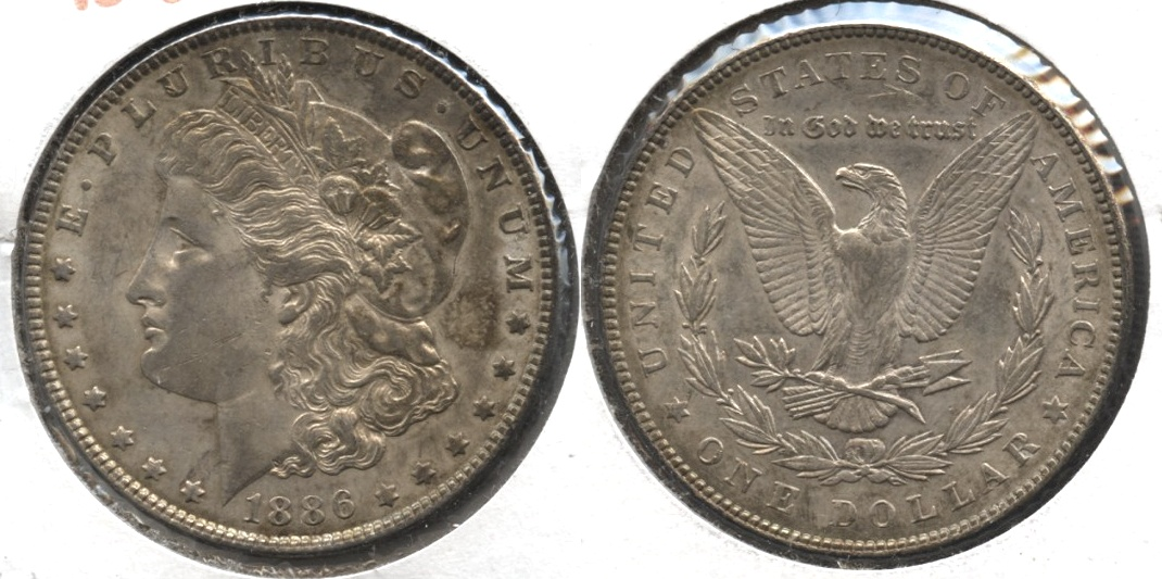 1886 Morgan Silver Dollar EF-45 #u
