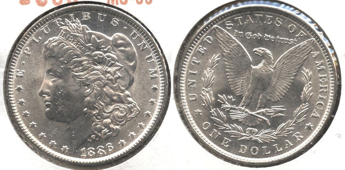 1886 Morgan Silver Dollar MS-60 #g