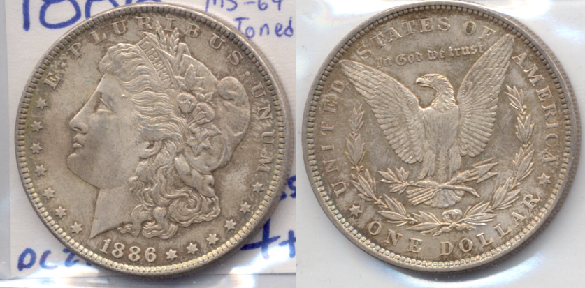 1886 Morgan Silver Dollar MS-64