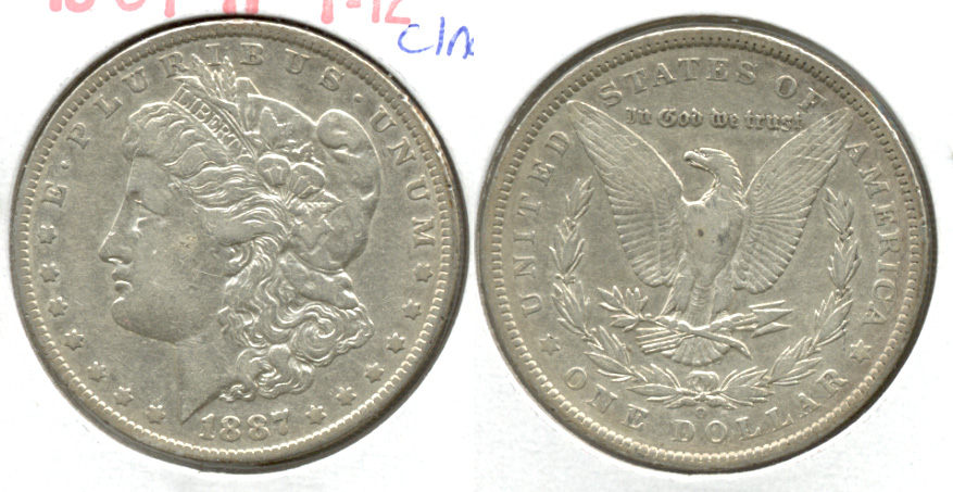 1887-O Morgan Silver Dollar Fine-12 c Cleaned