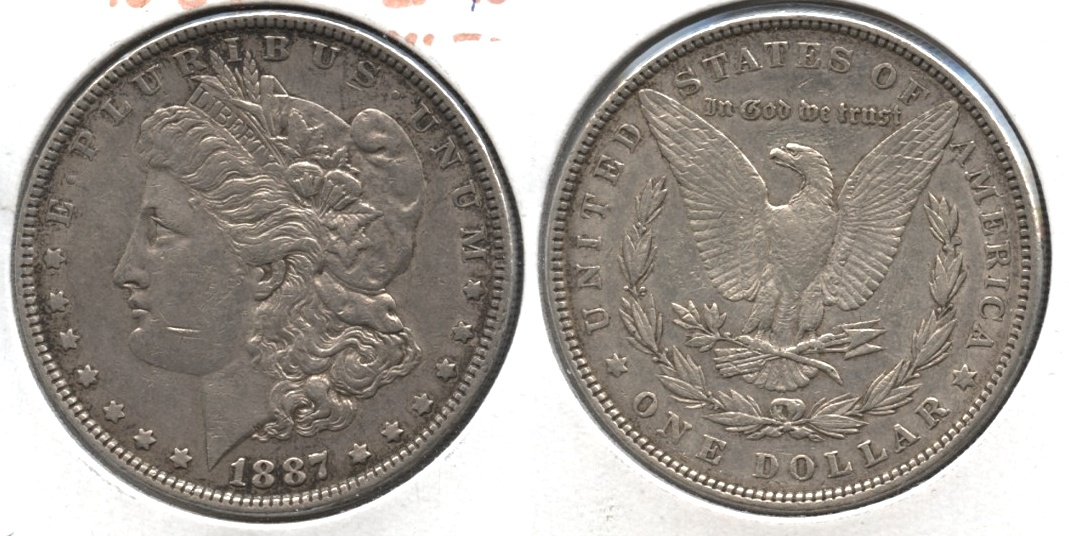 1887 Morgan Silver Dollar EF-40 #r