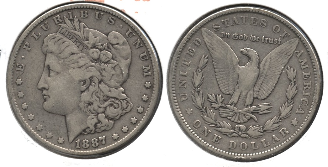 1887 Morgan Silver Dollar Fine-12 d