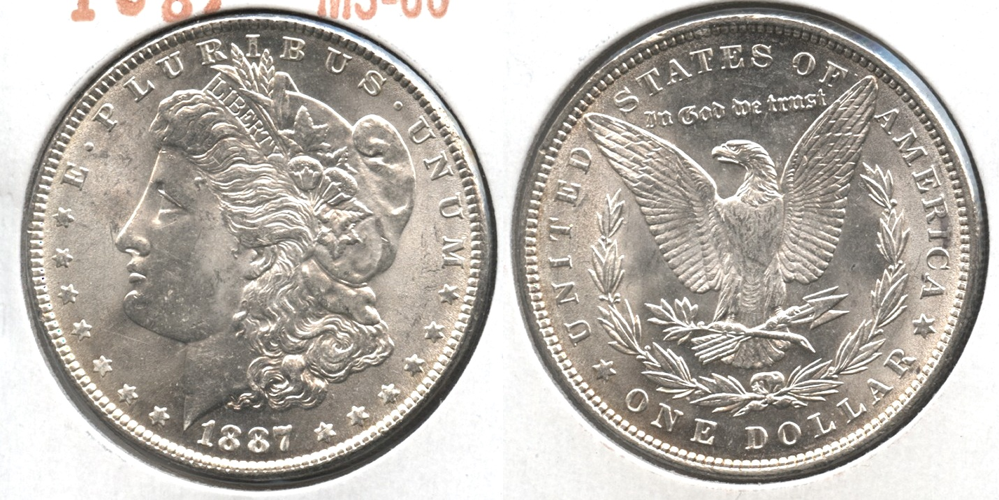 1887 Morgan Silver Dollar MS-60 #e