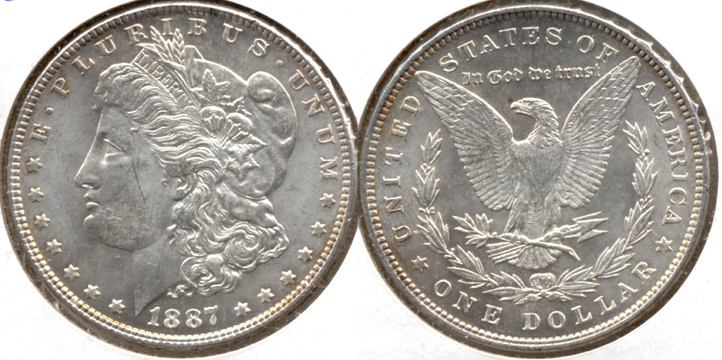 1887 Morgan Silver Dollar MS-62 b