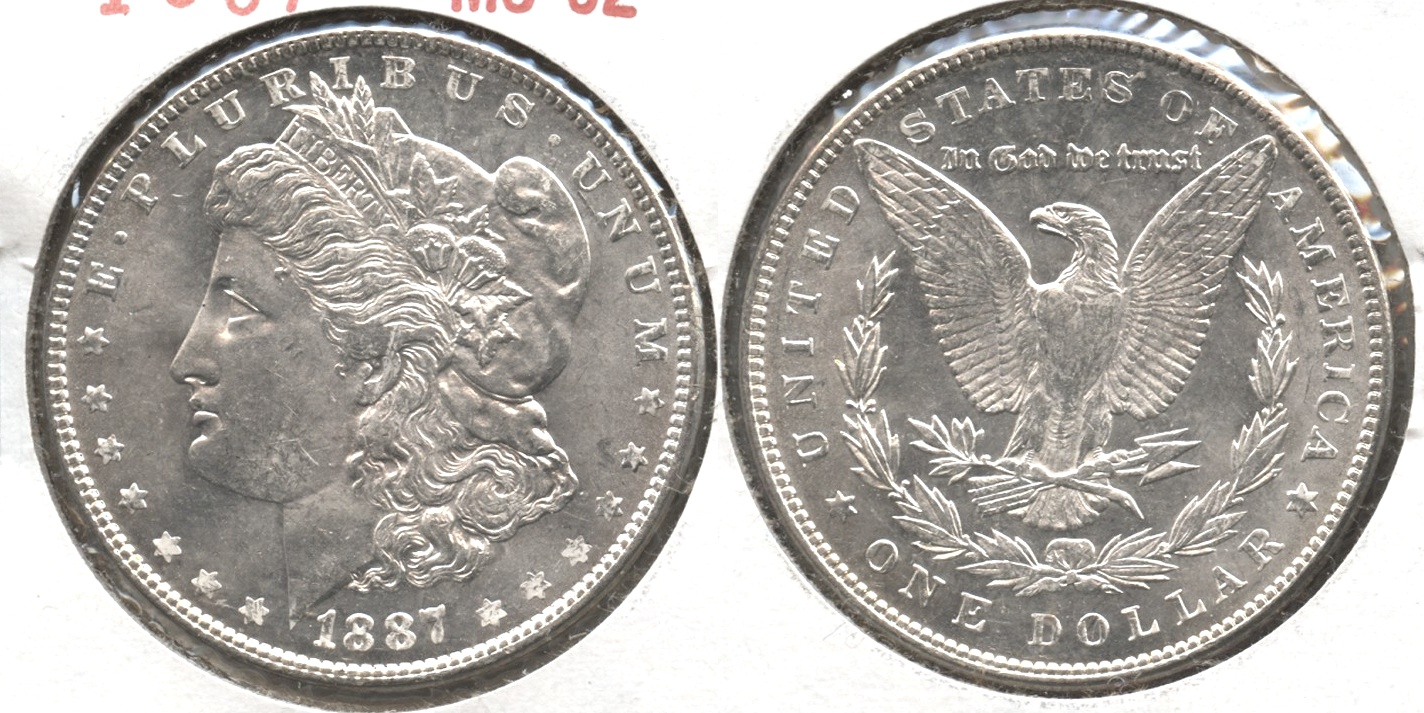 1887 Morgan Silver Dollar MS-62 #f