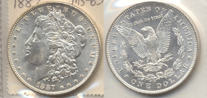 1887 Morgan Silver Dollar MS-63