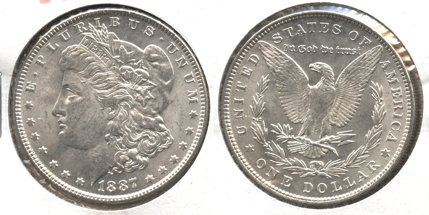 1887 Morgan Silver Dollar MS-63 #n