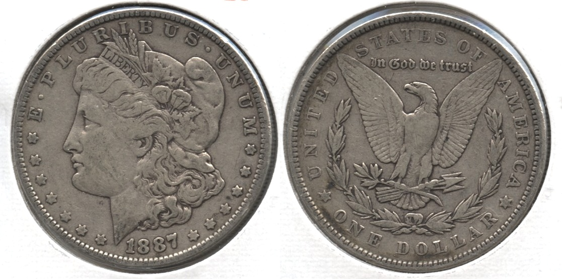 1887 Morgan Silver Dollar VF-20 #f