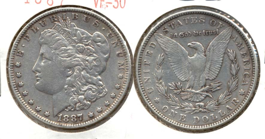 1887 Morgan Silver Dollar VF-30 b