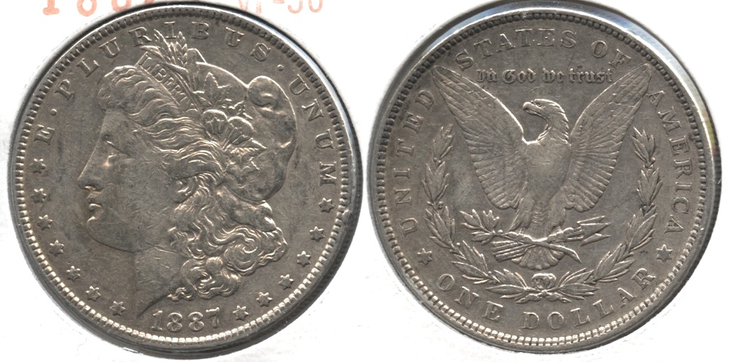 1887 Morgan Silver Dollar VF-30 #h