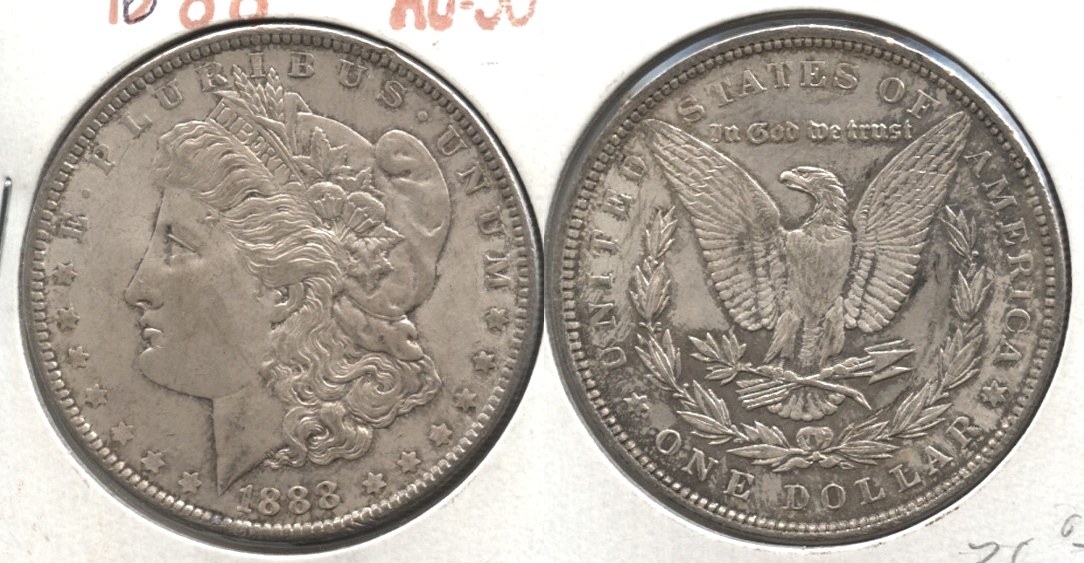 1888 Morgan Silver Dollar AU-50 #d