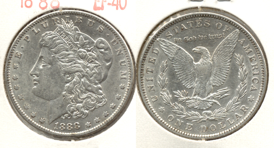 1888 Morgan Silver Dollar EF-40 l