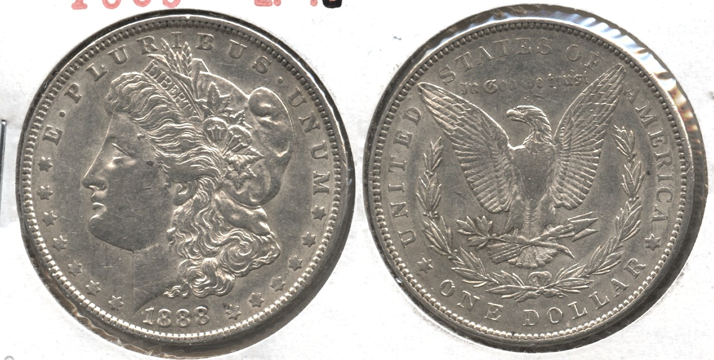 1888 Morgan Silver Dollar EF-45 #c
