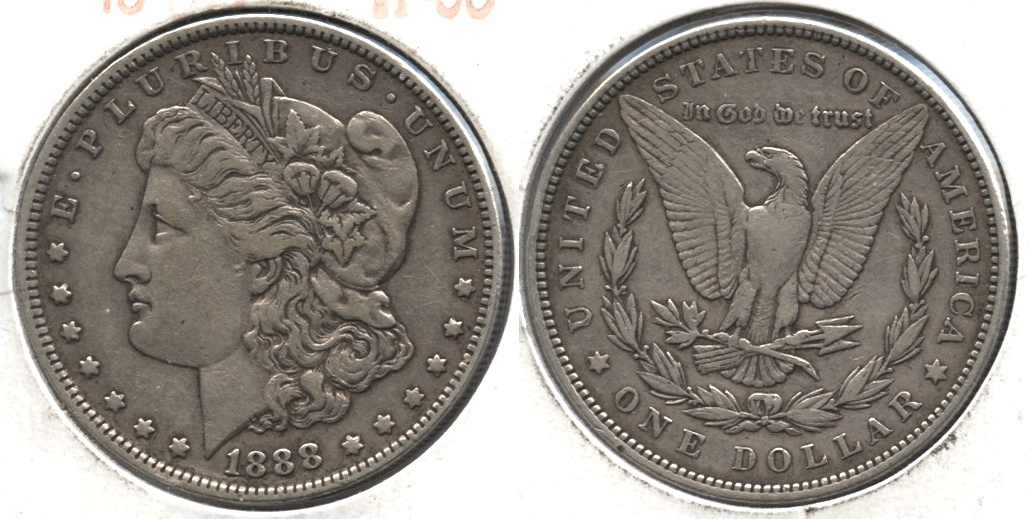 1888 Morgan Silver Dollar VF-30 b