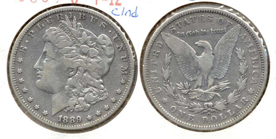 1889-O Morgan Silver Dollar Fine-12 Cleaned