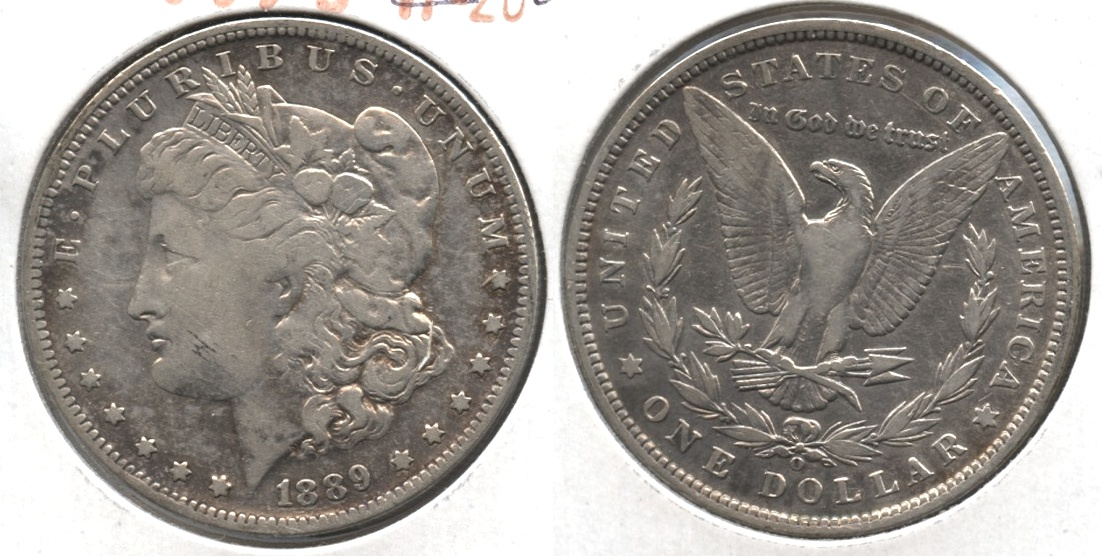 1889-O Morgan Silver Dollar Fine-12 #i Cleaned