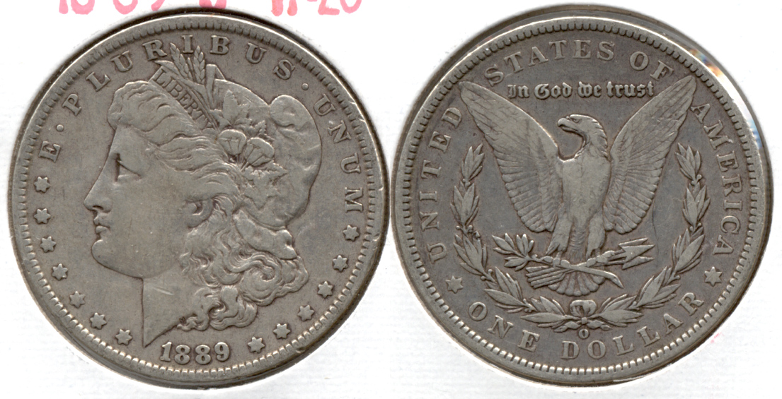 1889-O Morgan Silver Dollar VF-20 a