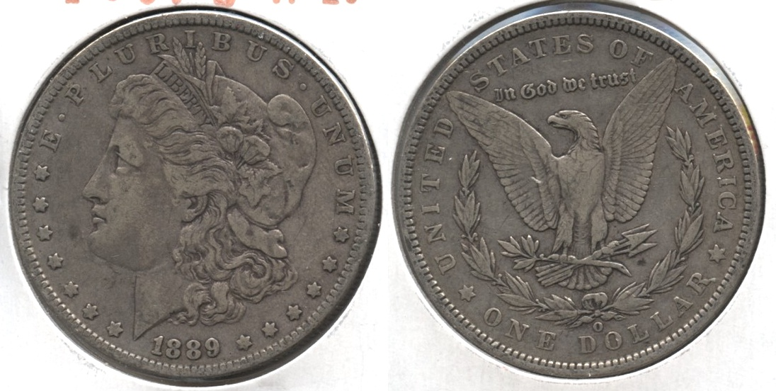 1889-O Morgan Silver Dollar VF-20 #k