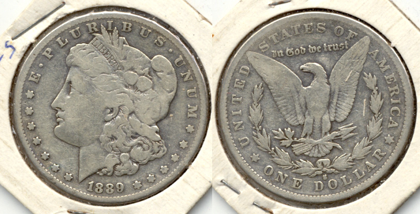 1889-S Morgan Silver Dollar VG-8