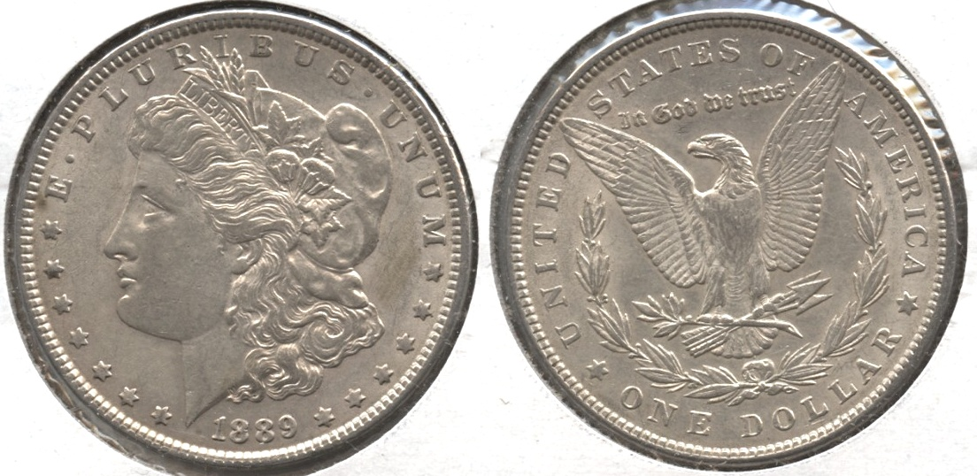 1889 Morgan Silver Dollar AU-50 #al