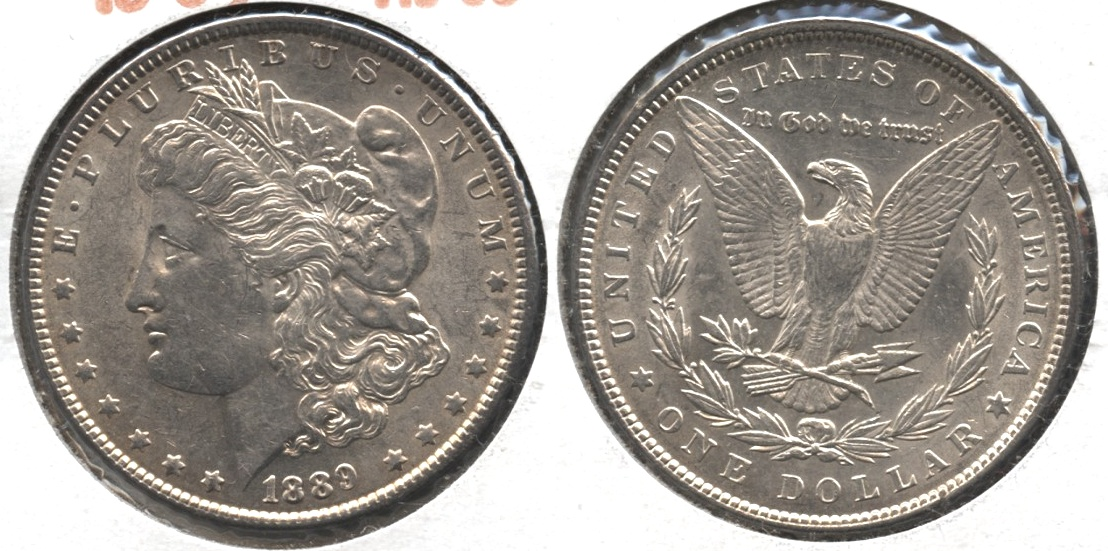 1889 Morgan Silver Dollar AU-50 #aq