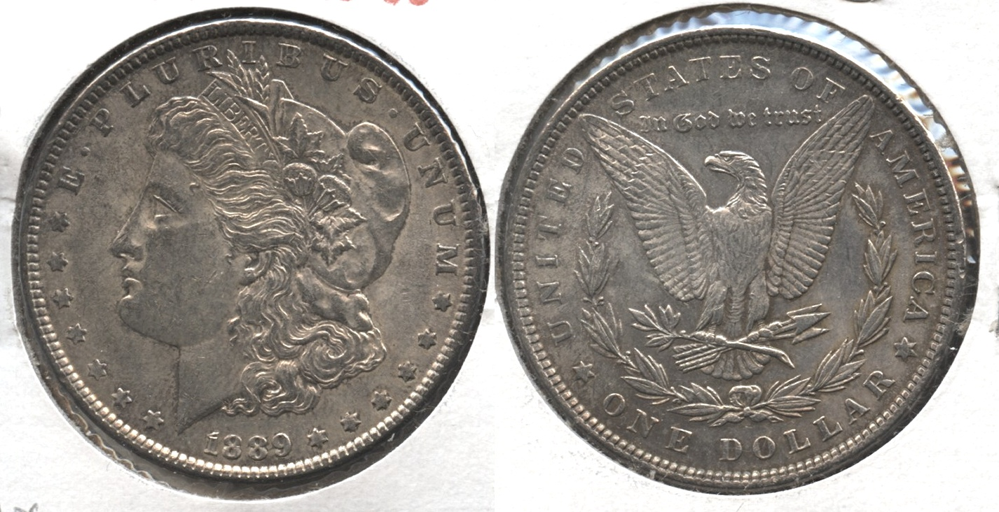 1889 Morgan Silver Dollar AU-50 #ax
