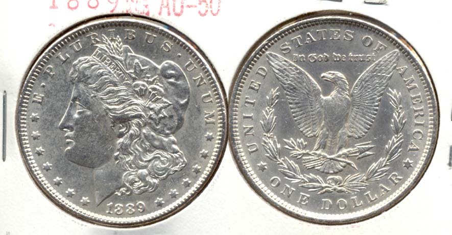 1889 Morgan Silver Dollar AU-50 b