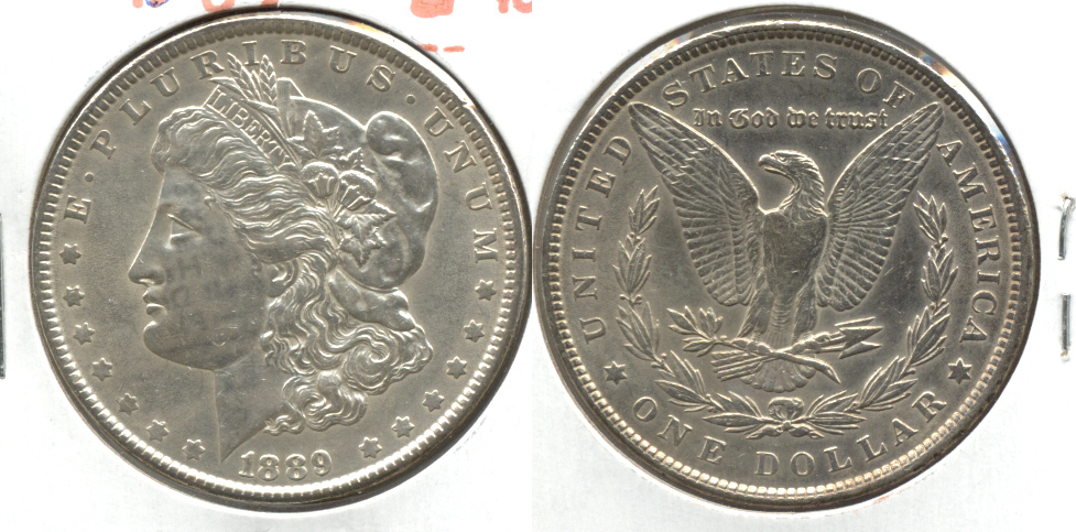1889 Morgan Silver Dollar AU-50 o Cleaned