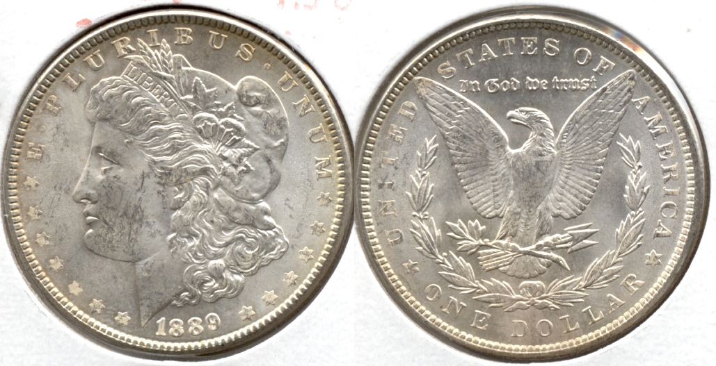 1889 Morgan Silver Dollar AU-50 r