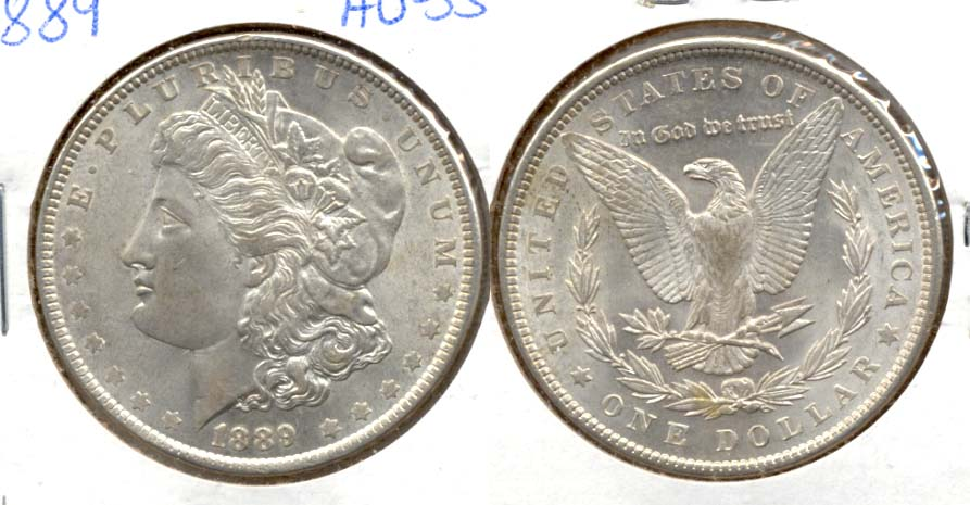 1889 Morgan Silver Dollar AU-55 b