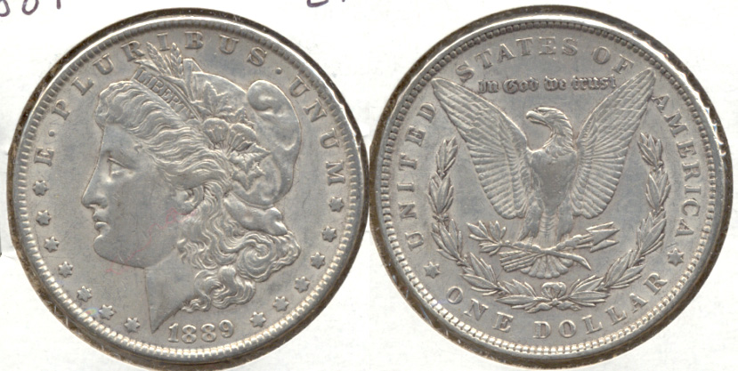 1889 Morgan Silver Dollar EF-40 a