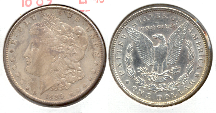 1889 Morgan Silver Dollar EF-40 aa
