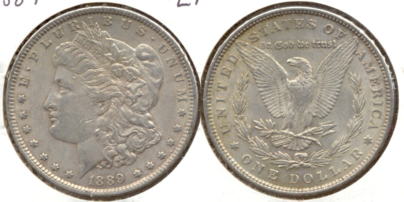 1889 Morgan Silver Dollar EF-40 d