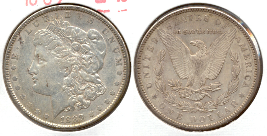 1889 Morgan Silver Dollar EF-40 z
