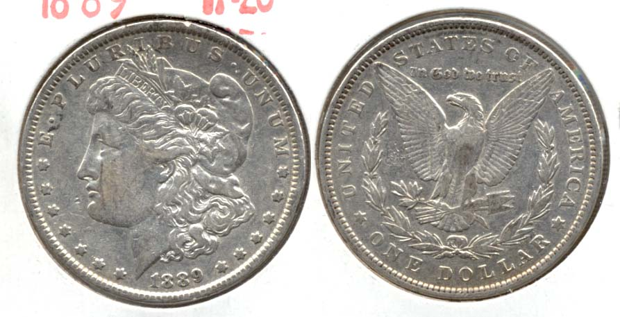 1889 Morgan Silver Dollar VF-20 a
