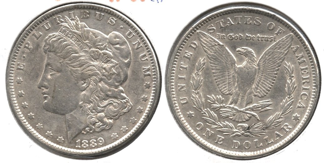 1889 Morgan Silver Dollar VF-30 #c Light Cleaning