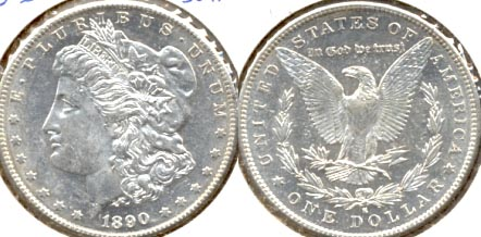 1890-S Morgan Silver Dollar AU-55 c