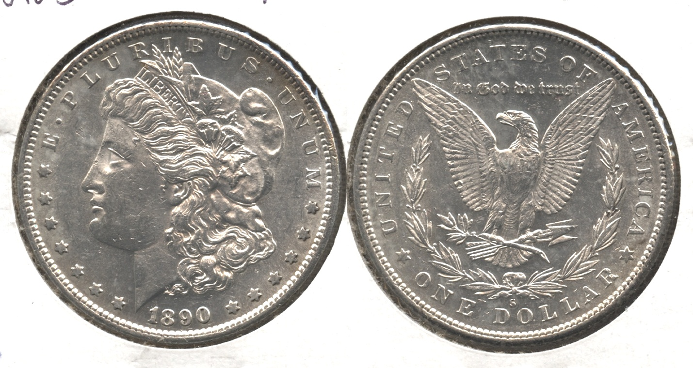 1890-S Morgan Silver Dollar AU-55 #d