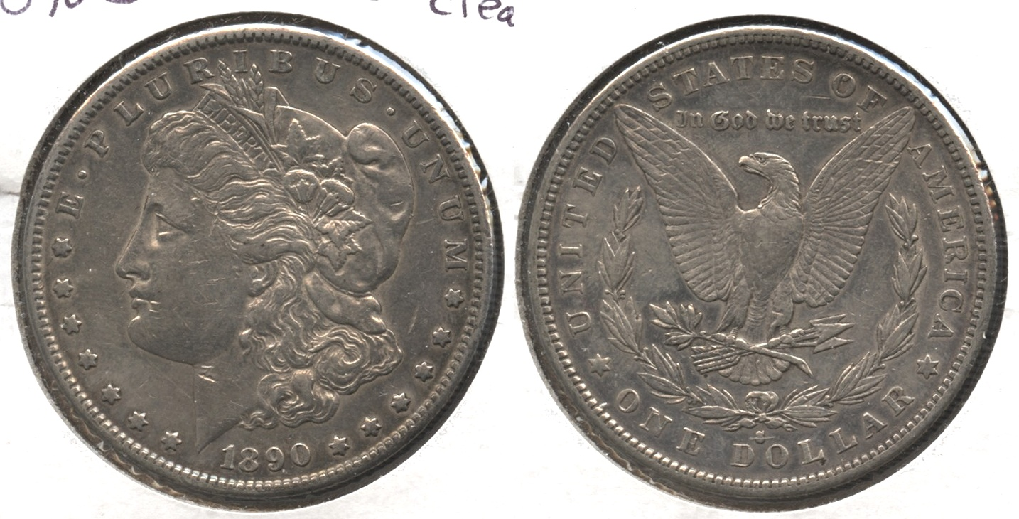 1890-S Morgan Silver Dollar EF-40 #l Old Cleaning