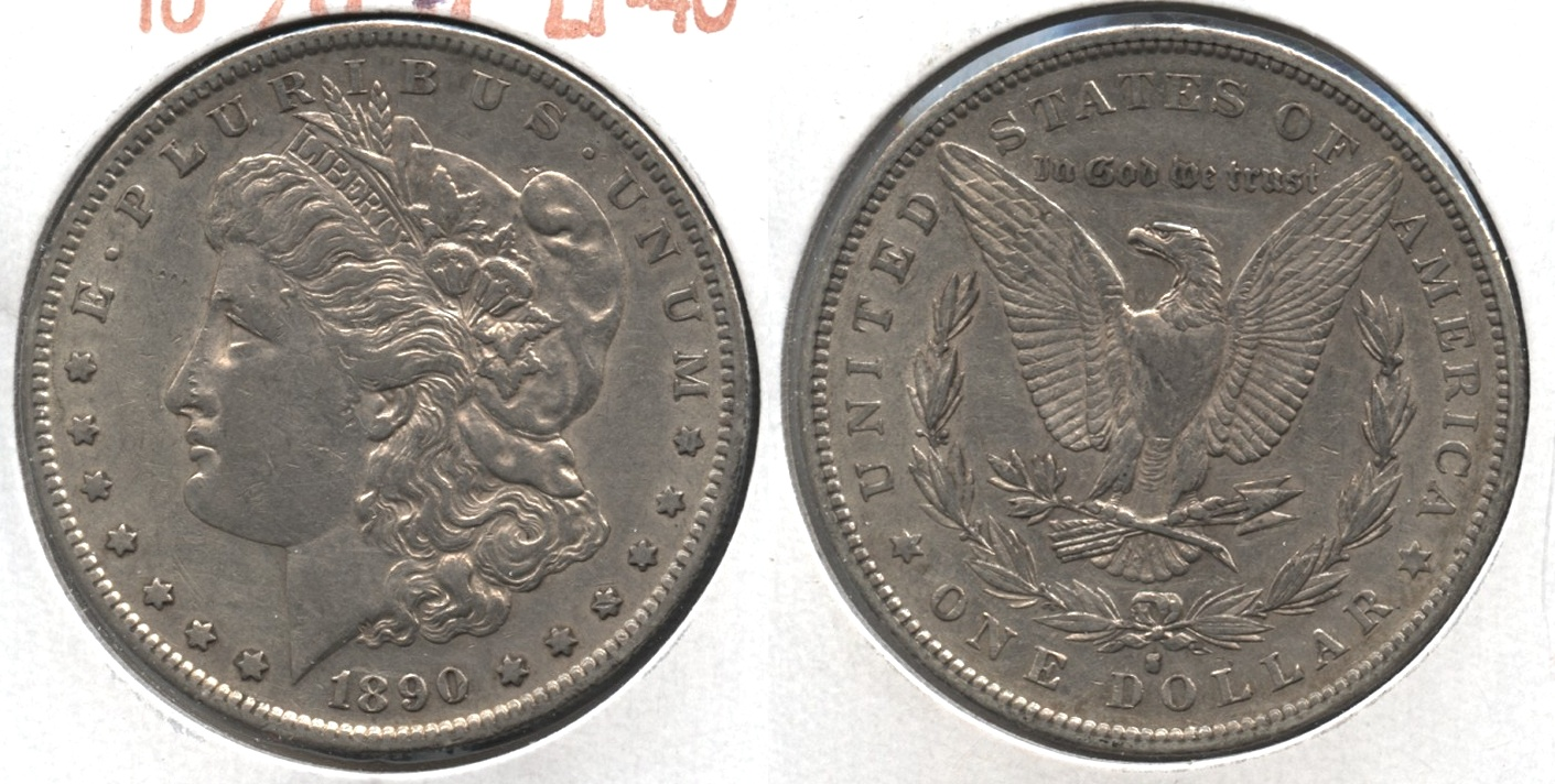 1890-S Morgan Silver Dollar EF-40 #q