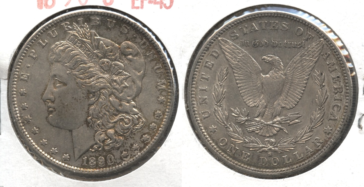 1890-S Morgan Silver Dollar EF-45 #c