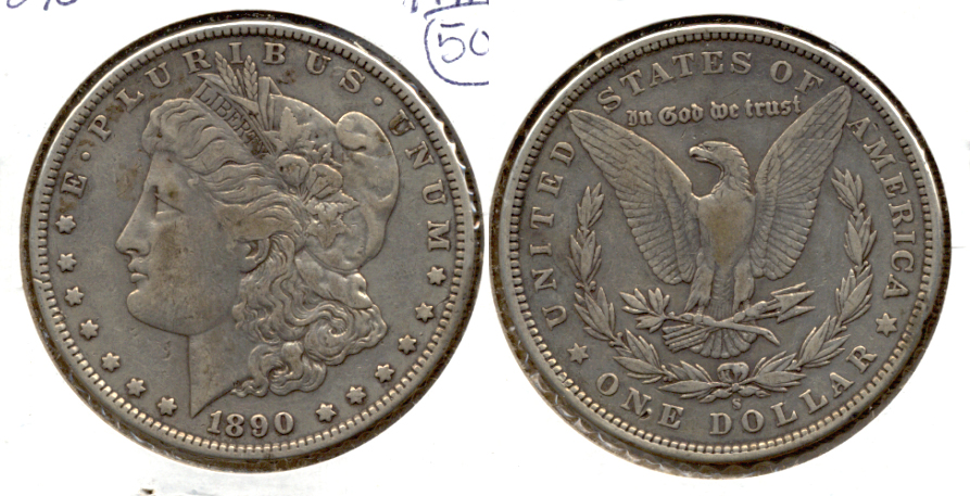 1890-S Morgan Silver Dollar Fine-12