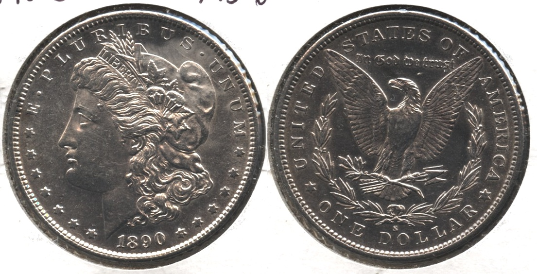 1890-S Morgan Silver Dollar MS-60 #c